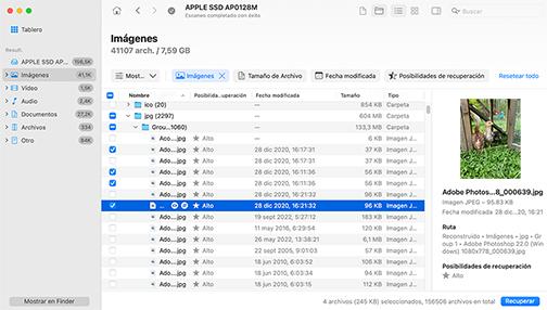 Analizar, Revisar y Recuperar – Recuperación de Datos Simple para Mac