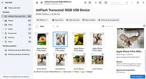 logiciel gratuit de récupération de photos