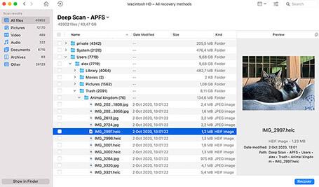 recover empty trash mac