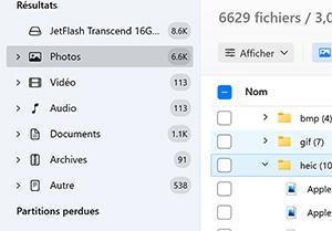 logiciel de récupération de photos