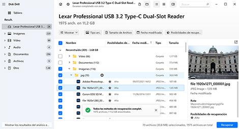 recuperador de archivos de usb