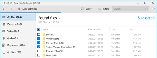 Recover lost data on Windows