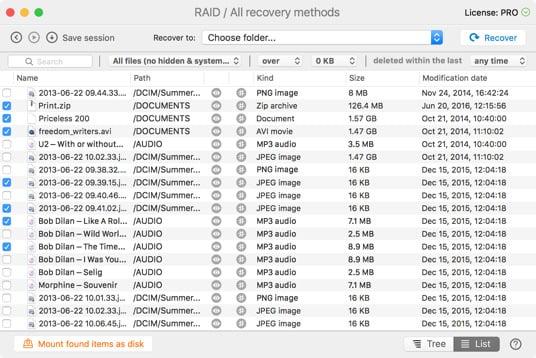 Recupere sus datos de Xserve RAID