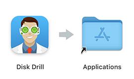 Перетащить в папку Приложения