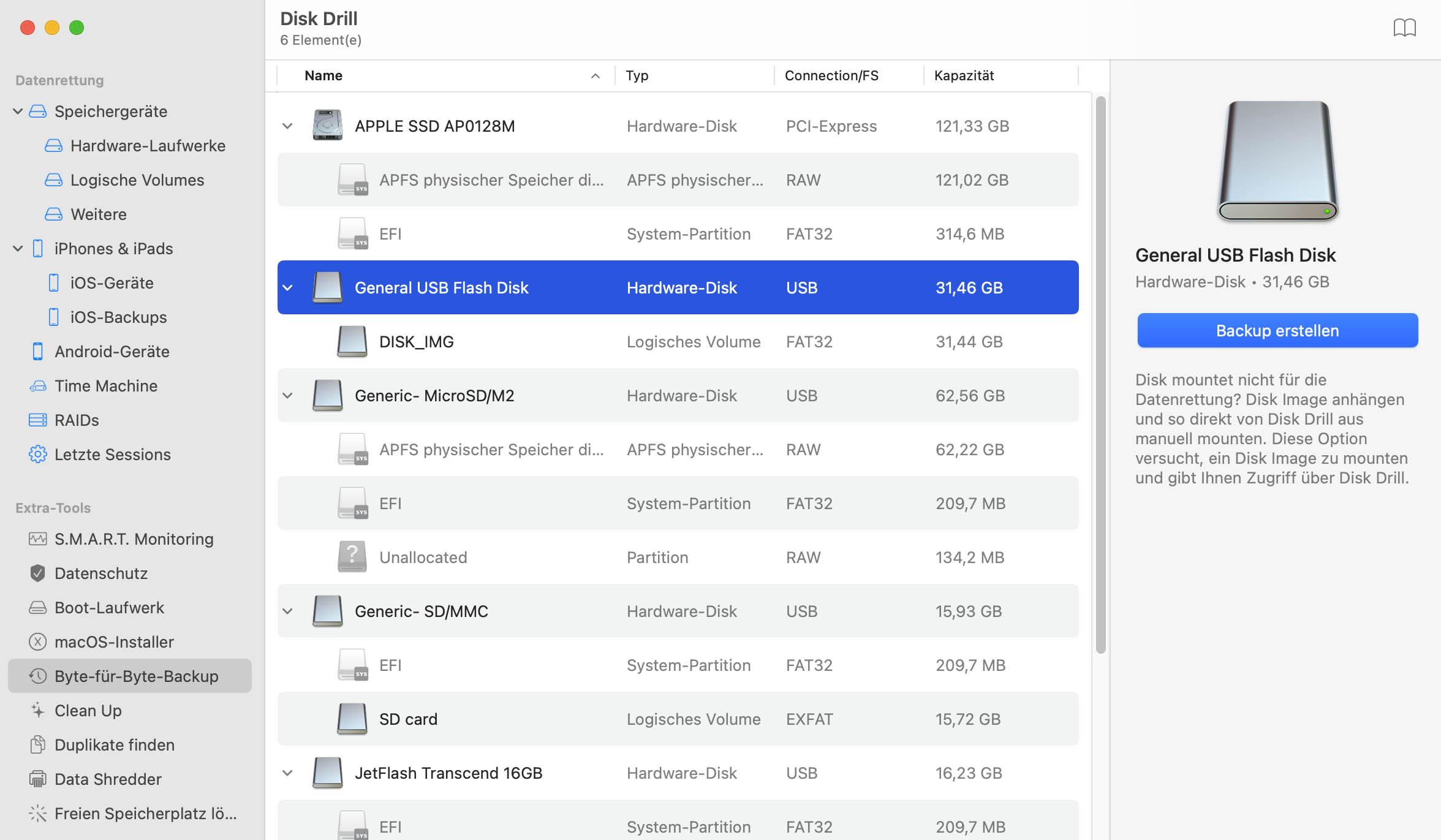 gelöschte Dateien wiederherstellen Mac