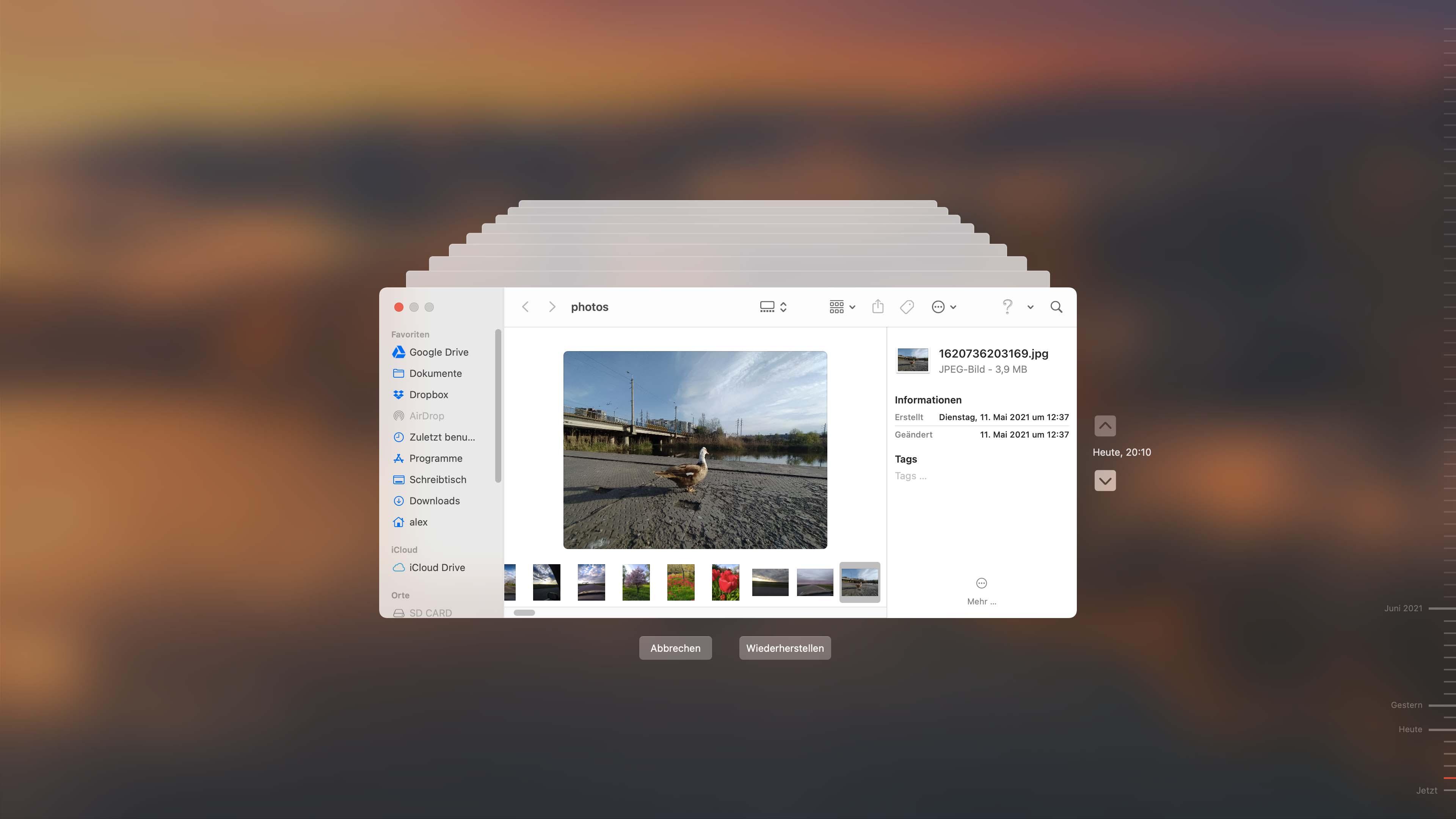 gelöschte Dateien auf dem Mac mit Time Machine wiederherstellen