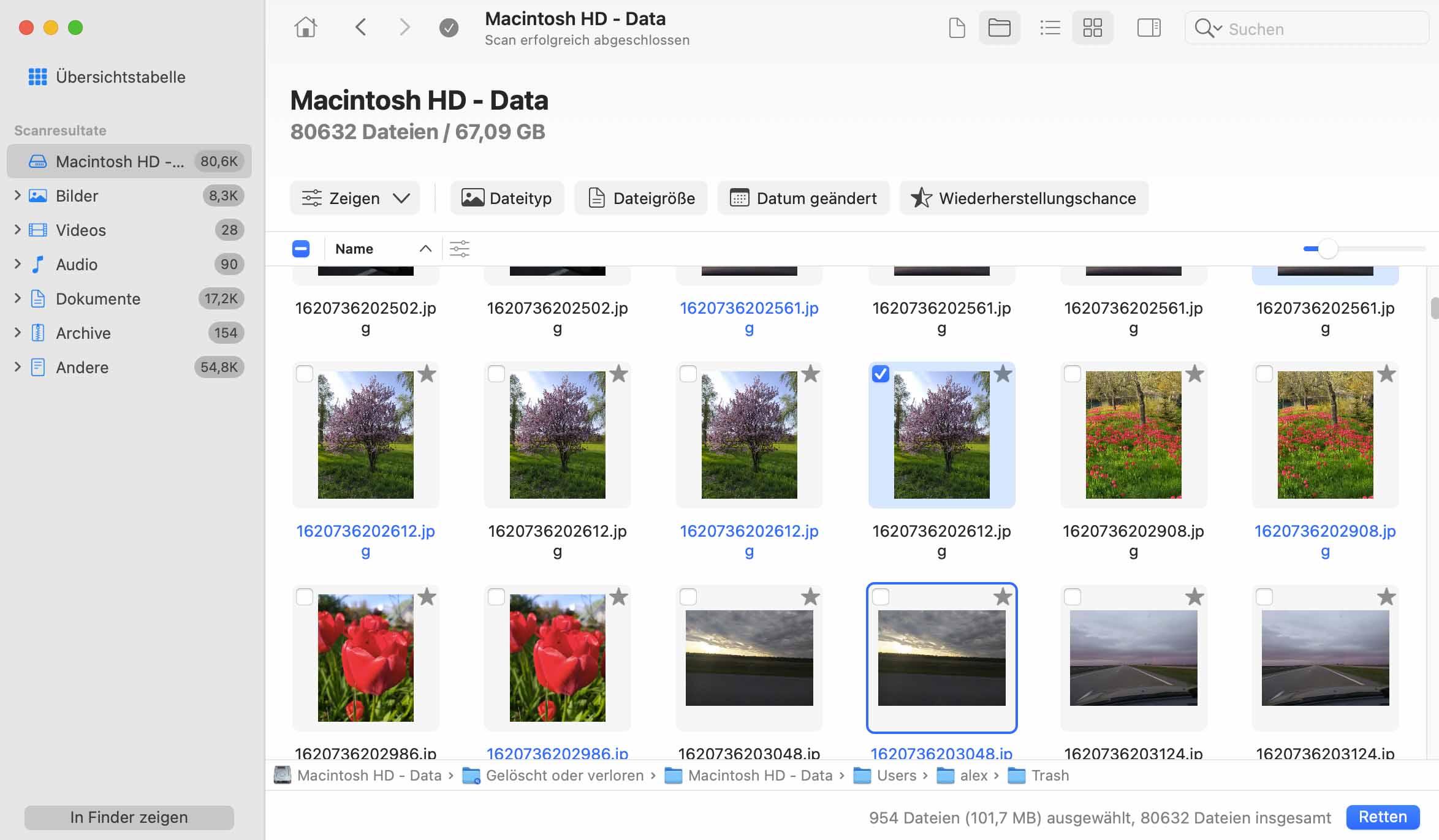 gelöschte Dateien wiederfinden Mac